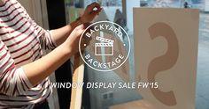 BACKYARD BACKSTAGE - SCHAUFENSTERGESTALTUNG SALE FW'15