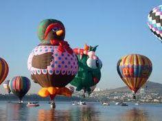 El festival de globos aerostaticos es una de las atracciones de León