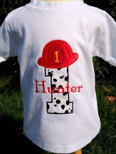 Fireman Birthday Shirt - Free Personalization