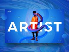 Artist UI designed by Vladimir Biondic. Connect with them on Dribbble; the global community for designers and creative professionals. Website Design Inspiration, Graphic Design Inspiration, Design Web, Logo Design, Web Layout, Layout Design, Cv Web, Webdesign Layouts, Webdesign Inspiration