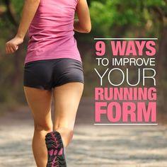 9 Ways to Improve Running Form!  #skinnyms #running #runningform