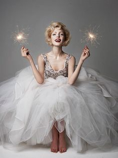 new year's eve // sparklers // wedding dress inspiration // tulle bridal gown