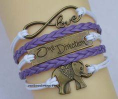 One direction infinity bracelet bracelet by endlesslovegift, $5.99