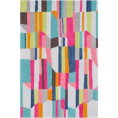 Technicolor rug in Mint and Bright Design by Surya ($97) ❤ liked on Polyvore featuring home, rugs, surya rugs, hot pink area rug, navy area rug, navy blue area rug and dark blue rug