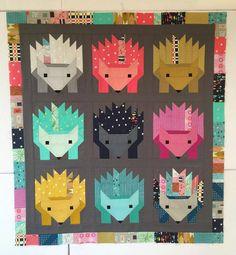Hazel the Hedgehog Quilt Kit (Cotton + Steel, Solids, Baby Quilt, Elizabeth Hartman, Oh Fransson)