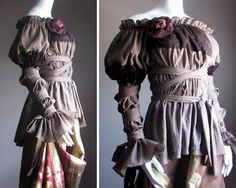 I am not into frilly.  However, the way this wraps and cinches it just lovely.  #pirates #steampunk #victorian