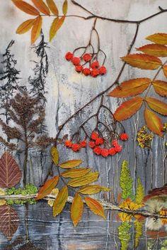 Поделка из листьев на бумаге требует немного фантизии и времени. Все нюансы работы и вариации можно увидеть в этой статье. Autumn Crafts, Autumn Art, Nature Crafts, Art Floral, Art Et Nature, Pressed Flower Art, Leaf Crafts, Halloween Drawings, Leaf Art