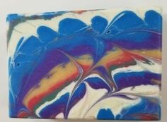 Multiple colors and mixing. Some glycerin rivers in this on. Cold Process Soap, Sky, Create, Rivers, February, Challenge, Painting, Colors, Heaven