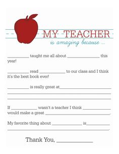 Teacher Appreciation Day is May 9th! Show your child's teacher gratitude with this hand-written letter from your little student.