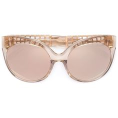 Linda Farrow cat-eye sunglasses (£850) ❤ liked on Polyvore featuring accessories, eyewear, sunglasses, cat eye sunglasses, see through sunglasses, linda farrow glasses, linda farrow eyewear and cateye sunglasses