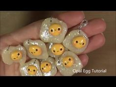 Kawaii Egg opal polymer clay charm tutorial