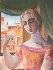 Женщина с амулет у окна. Сесар Мал