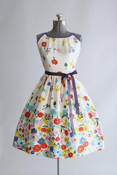 Vintage 1950s Dress / 50s Cotton Dress / Kay by TuesdayRoseVintage