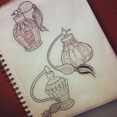 52 Trendy Ideas for tattoo traditional girly perfume bottles Girly Tattoos, Trendy Tattoos, Love Tattoos, Beautiful Tattoos, New Tattoos, Sailor Tattoos, Arabic Tattoos, Dragon Tattoos, Makeup Tattoos