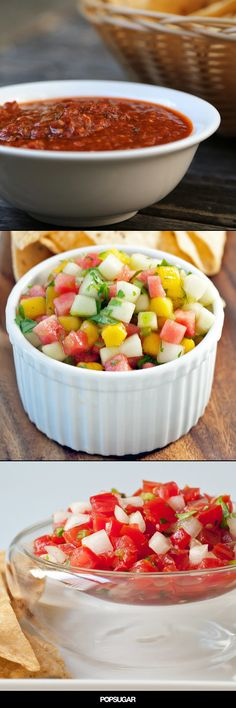 The next time you're craving chips and salsa, ditch the jar; homemade salsa is surprisingly simple to prepare and worlds more satisfying when made fresh. From tangy salsa verde to crisp, chunky pico de gallo and even a roasted tomato option, we've got the classic covered and then some. Serve them for game days, parties, picnics . . . just about any group gathering.