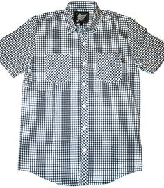 Benny Gold - Windowpane Check S/S Button-Down Shirt (Navy) available now at www.petalumasupplyco.com