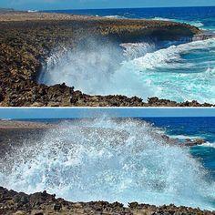 In Curaçao: Hohe Wellen