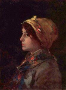 Head of a Young Farmer - Nicolae Grigorescu Farmer Painting, Young Farmers, Unusual Art, Art Database, Hats For Women, Photo Art, Modern Art, Culture, Fine Art