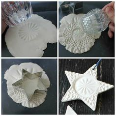 How to make a ceramic decoration with different textures