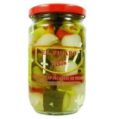 el picaro banderillas picantes - Buscar con Google Pickles, Cucumber, Google, Food, Pickling, Essen, Meals, Pickle, Yemek