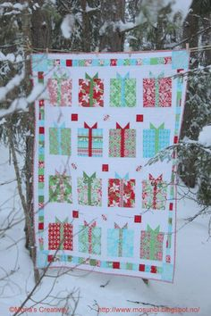 Quilting: Flurry by Kate Spain from Moda; simple pattern, lovely results. Inspiration for a birthday or Christmas quilt