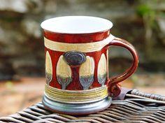 Large Ceramic Mug Mug Earthen mug Ceramic mug Tea by DankoHandmade
