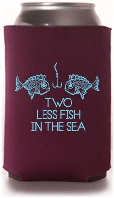 Best Selling Wedding Can Cooler Templates - Inexpensive Wedding Favors!  #wedding #koozies #favors #fish
