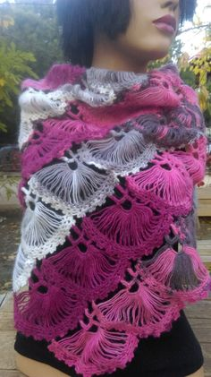 Hey, I found this really awesome Etsy listing at https://www.etsy.com/listing/258723814/pink-shawl-hand-crochet-shawl-mohair