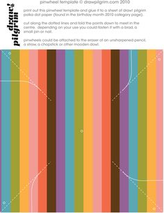 pinwheel template #freeprintable  thinking of trying it someday =)