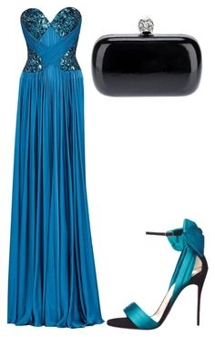 """Untitled #22507"" by edasn12 ❤ liked on Polyvore featuring Zuhair Murad, Christian Louboutin and Alexander McQueen"