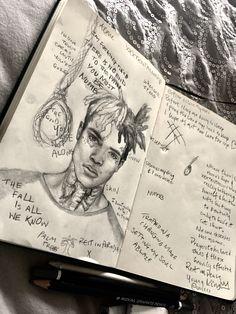 # Skizzen Bleistift - Famous Last Words Xxxtentacion Quotes, Rapper Quotes, Rapper Art, Sad Drawings, Art Drawings Sketches, Pencil Sketch Drawing, Pencil Drawings, Rap Wallpaper, Iphone Wallpaper