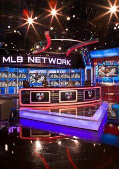MLB Network by Jack Morton/PDG Tv Set Design, Stage Design, Virtual Studio, Sports Channel, Tv Sets, New Program, News Studio, Video Production, Studio Design