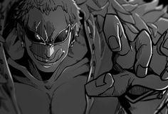 Doflamingo Manga Art, Manga Anime, One Piece Drawing, The Pirate King, Art Drawings, Batman, Fictional Characters, Dragon, Fandom