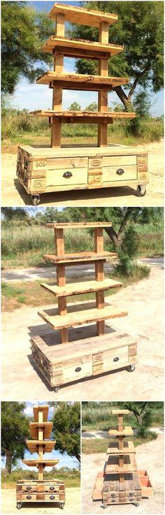 wooden pallet multi tier stand