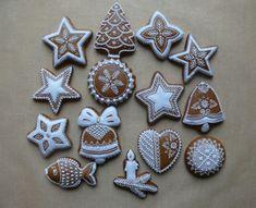 Vianočné Gingerbread, Xmas, Sugar, Cookies, Desserts, Patterns, Food, Biscuits, Photograph Album