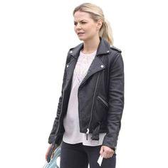 Black Leather Jacket Emma Swan Once Upon a Time Season 6