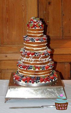 Natural Berries Wedding Cake by www.jellycake.co.uk, via Flickr