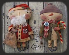 HoHOho, Let It Snow Santa and Snowman Doll Pattern--gotta have this pattern!
