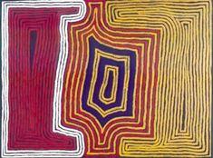 Ronnie TJAMPITJINPA_Tingari Cycle_Australian Aboriginal art #Artaborigene #aboriginalart #australianart #artaustralien #indigenous #Tjampijinpa #papunya #fathers