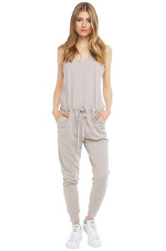 Jumpsuit | Grey Sweat Jumpsuit | Casual Jumpsuits -AKIRA