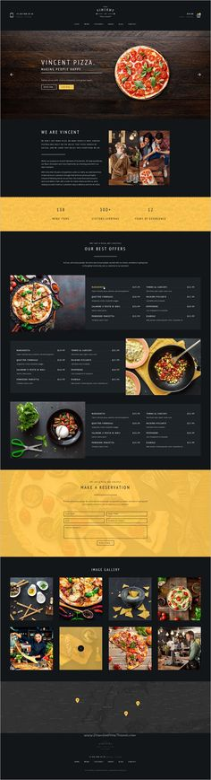 vincet is beautifully design premium #Photoshop template for pizzeria, restaurant, #cafe or #food order online service websites with 6 homepage layouts and 25 organized PSD pages download now➩ https://themeforest.net/item/vincent-restaurant-pizza-cafe-and-online-delivering/19220268?ref=Datasata