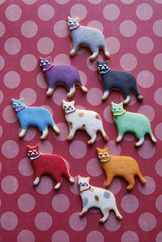 DIY kitty sugar cookies. adorbs!