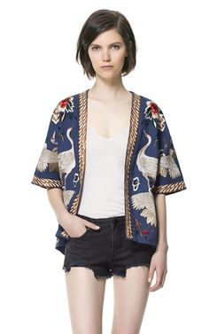 Building a Spring 2013 Wardrobe: KIMONO SLEEVE JACKET TOP - Blazers - Woman - ZARA Canada
