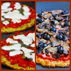 Massa de pizza de abobrinha e de couve-flor