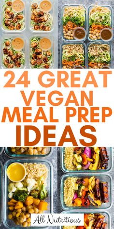 Delicious vegan recipes are not always easy to find - these meal prep ideas are tasty though. Check them out, try out these vegan meals and have fun cooking! #vegan #mealprepping #mealideas