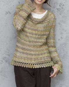 Color de drapeado Pullover