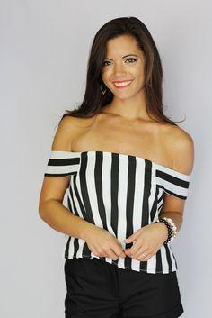 Mariska Striped Crop Top