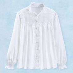 W1866 Serengeti smocked blouse