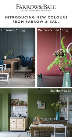 Discover our nine new colours, ranging from an exotic pink and our deepest red to a soft off white and a down to earth blue. Farrow And Ball Living Room, Farrow And Ball Paint, Farrow Ball, Paper Wallpaper, Wallpaper Samples, Pink Paint Colors, Eco Friendly Paint, Colour Consultant, Rose Cottage