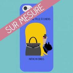 Coque iphone 5 sur mesure, coque à personnaliser avec votre profil birdy réalisé par natacha birds